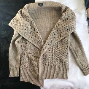 American Eagle Tan Gold Chunky Knit Cardigan
